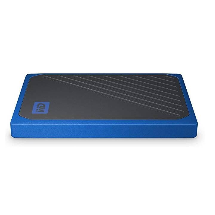 SANDISK My Passport Go (USB 3.0, 2048 GB, Noir, Bleu)