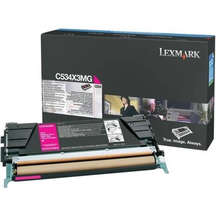 LEXMARK C534X3MG (Einzeltoner, Magenta)