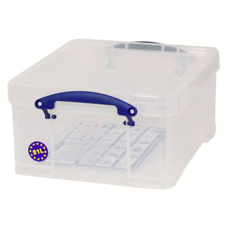 VERAMENTE UTILIZZATO contenitore da 21 litri trasparente