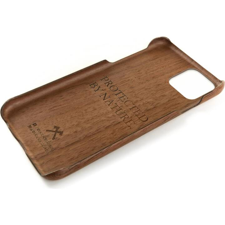 WOODCESSORIES Backcover EcoCase Slim Walnuss (iPhone 11, Braun)