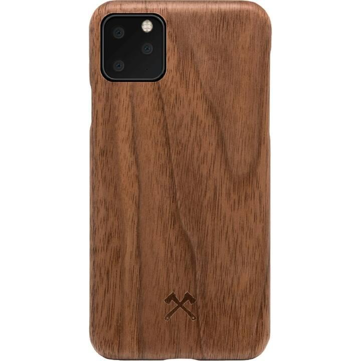 WOODCESSORIES Backcover EcoCase Slim Walnuss (iPhone 11 Pro, Braun)