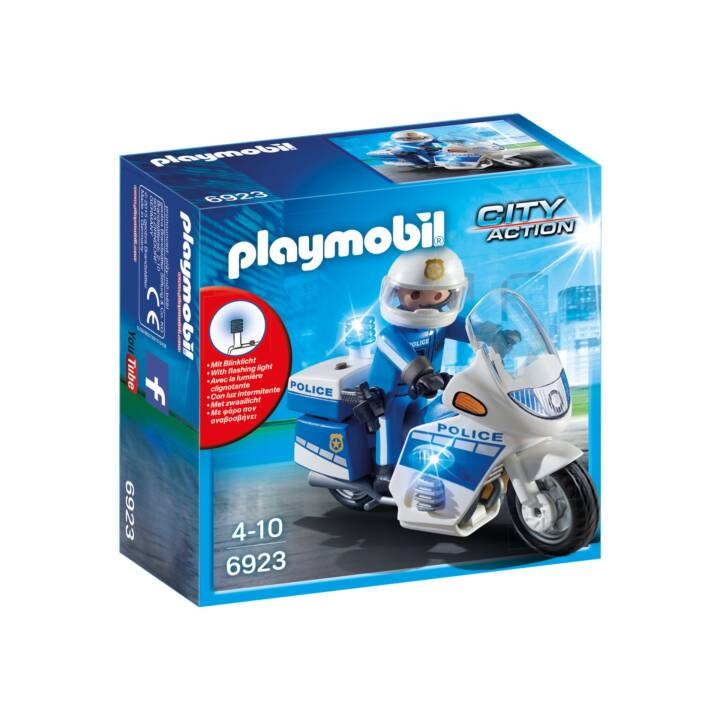 PLAYMOBIL Bande motocyclette internationale avec feu clignotant LED (6923)