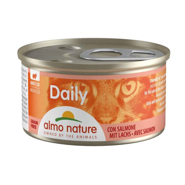 ALMO NATURE Daily Mousse (Adulto, 85 g, Salmone)