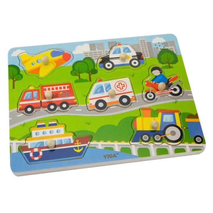 NOUVEAUX JOUETS CLASSIQUES véhicules puzzle en bois