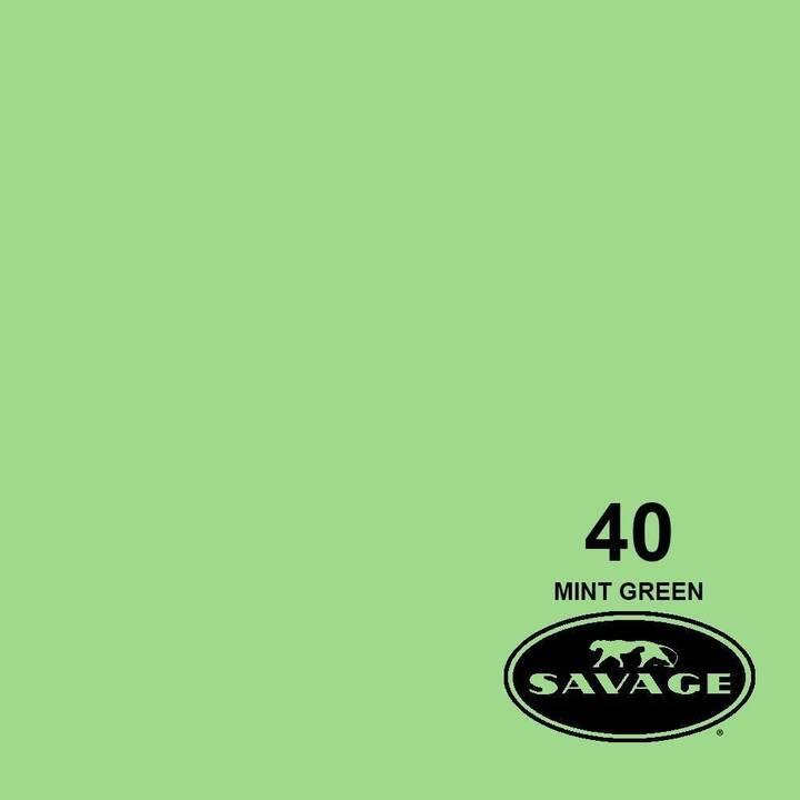 SAVAGE Sfondo foto (Verde menta, 2.72 x 11 m)