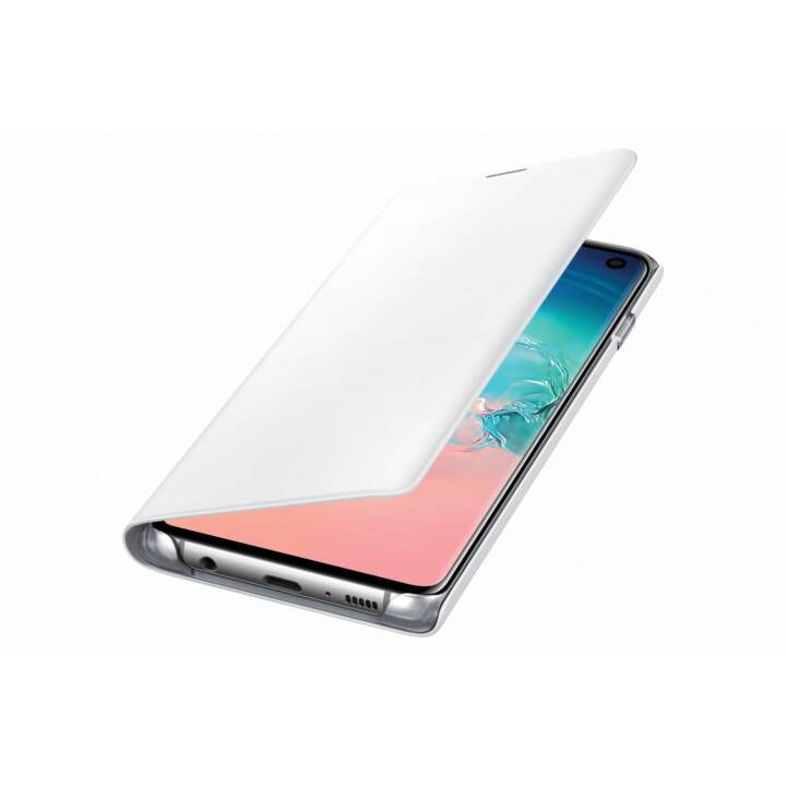 SAMSUNG Flipcover LED View  (Galaxy S10, Weiss)