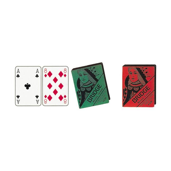 AGMÜLLLER Bridge cartes doubles, 2 x 55 cartes