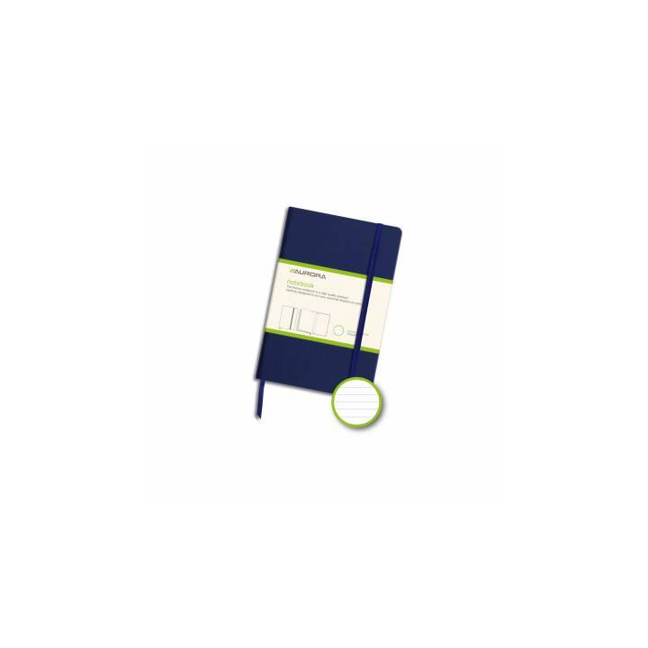 AURORA Notizbuch 95x145mm liniert blau