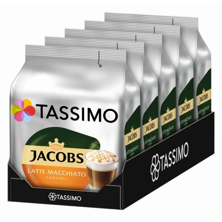 TASSIMO Capsule di caffè Latte macchiato Caramel Jacobs (5x 16 pezzo)