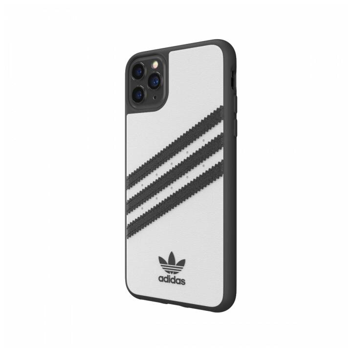 ADIDAS Backcover Moulded PU (iPhone 11 Pro Max, Nero, Bianco)