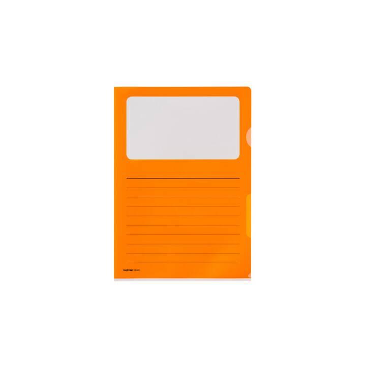 KOLMA Cartellina trasparente (Arancione, A4, 10 pezzo)