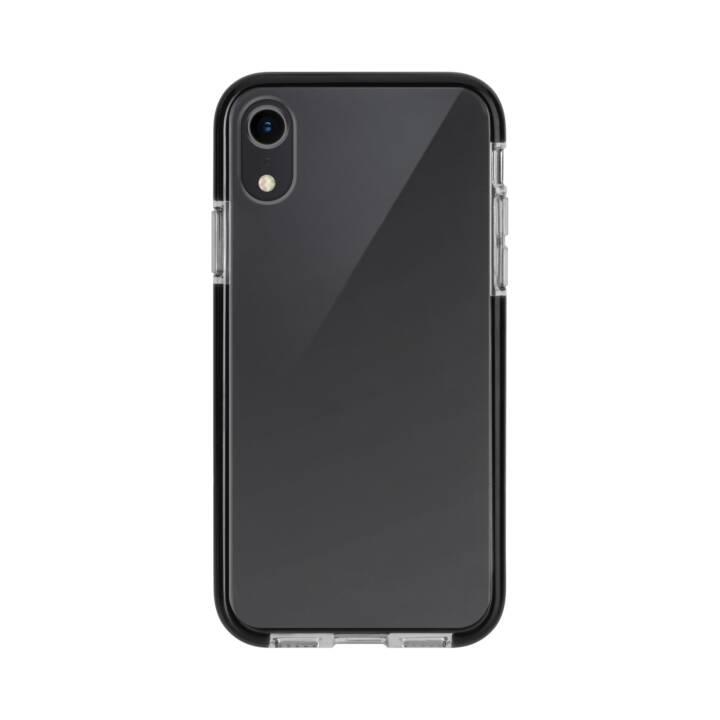 XQISIT Cover Mitico Bumper für iPhone XR, Clear/Black