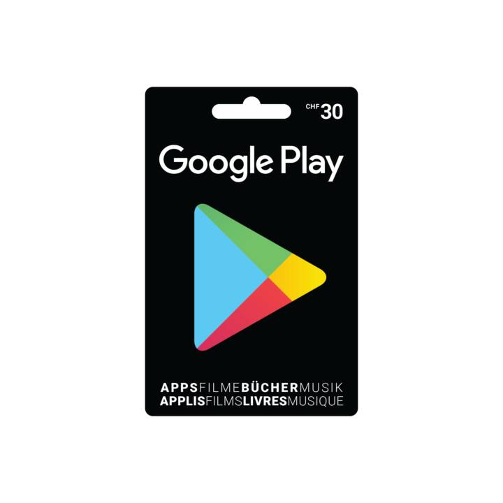 Google Play Card 30 CHF