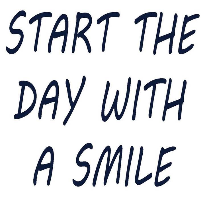 GLOREX Inserto in rilievo Start the day with a smile (Grigio)