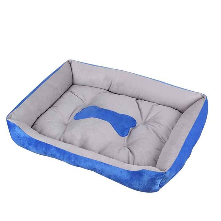 EG Anti-Rutsch-Haustierbett - Haustier weniger als 2,5 kg - Blau