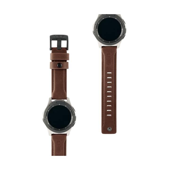 URBAN ARMOR GEAR Leather Galaxy Watch Cinturini (Nero)
