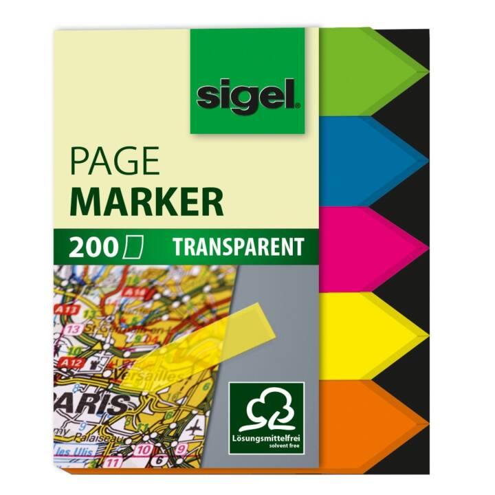 SIGEL Marker Arrow 12x45mm 5 Farben ass.
