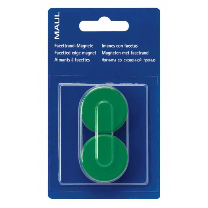 Magneti MAUL 34x13 mm verde 2 pezzi