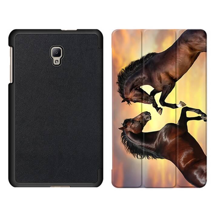 """EG MTT Tablet Tasche mit Smart faltbare Abdeckung für Samsung Galaxy Tab A 8"""" (2017)- Pferde"""
