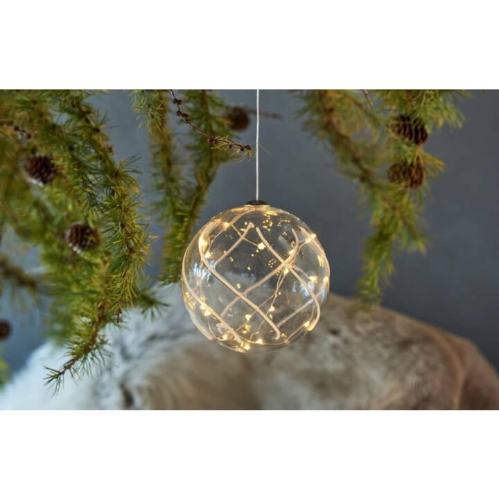 SIRIUS LED Weihnachtskugel Vein 12cm
