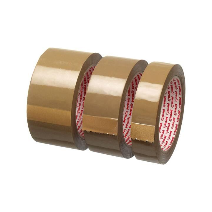 Ruban d'emballage PERMAFIX 25mm×66m brun