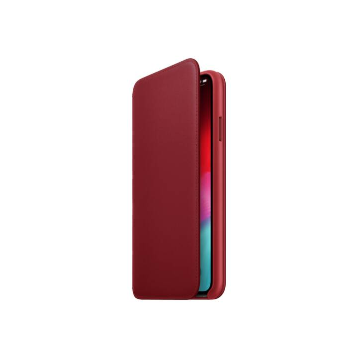 APPLE iPhone XS Max Leather Folio, (PRODUCT) Red