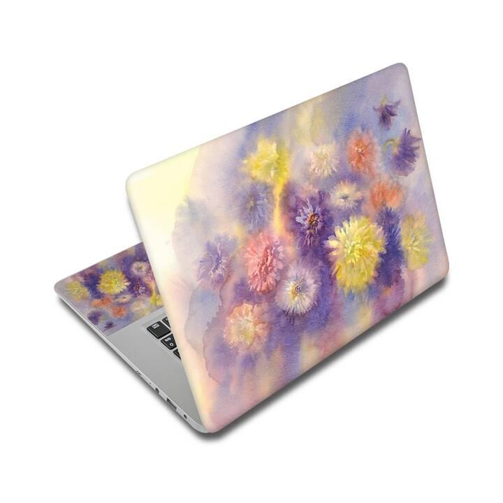 """EG Schutz Aufkleber für 15"""" Notebook - Blumen"""