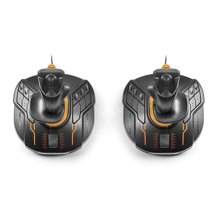 THRUSTMASTER FCS Space Sim Duo Joystick (Noir, Orange)