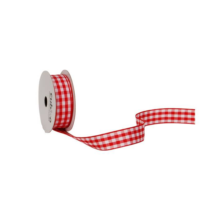 Bande SPYK Cubino Vichy 15mmx3m rouge-blanc