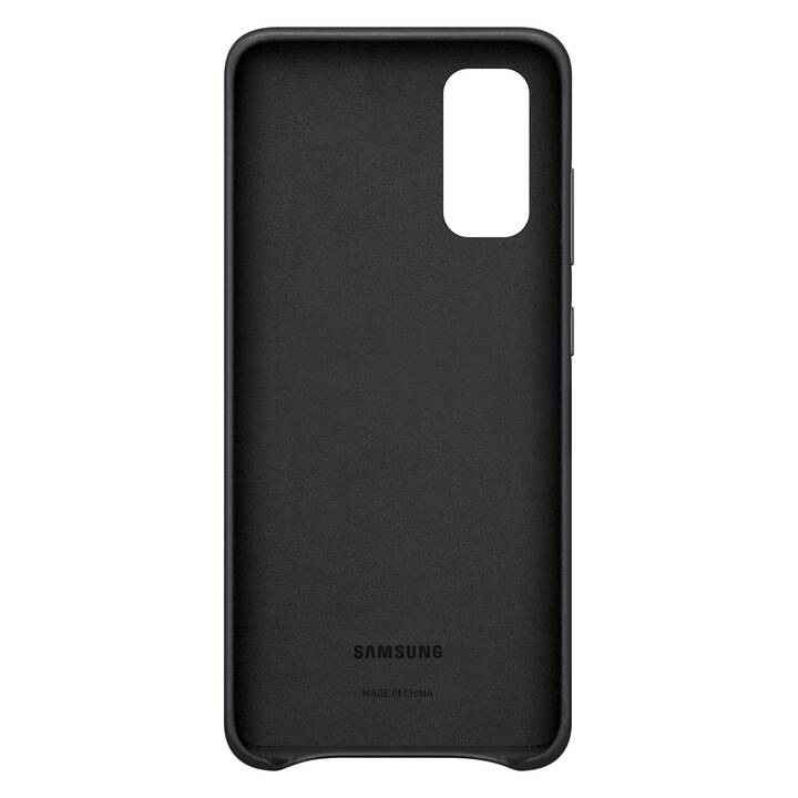 SAMSUNG Backcover Leather (Galaxy S20, Nero)