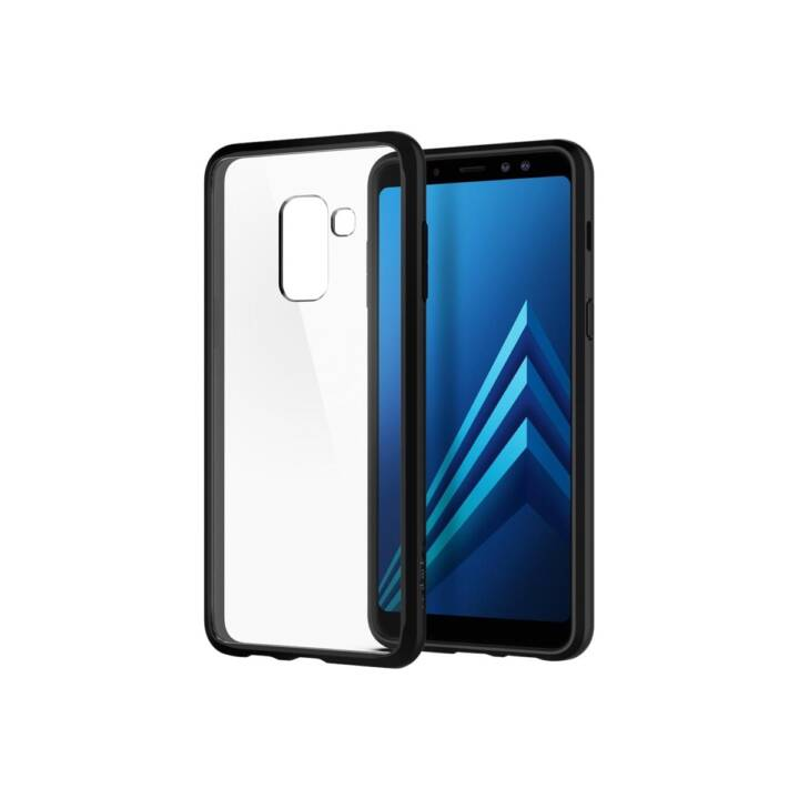 SPIGEN Backcover Ultra Hybrid (Galaxy A8 (2018), Schwarz)