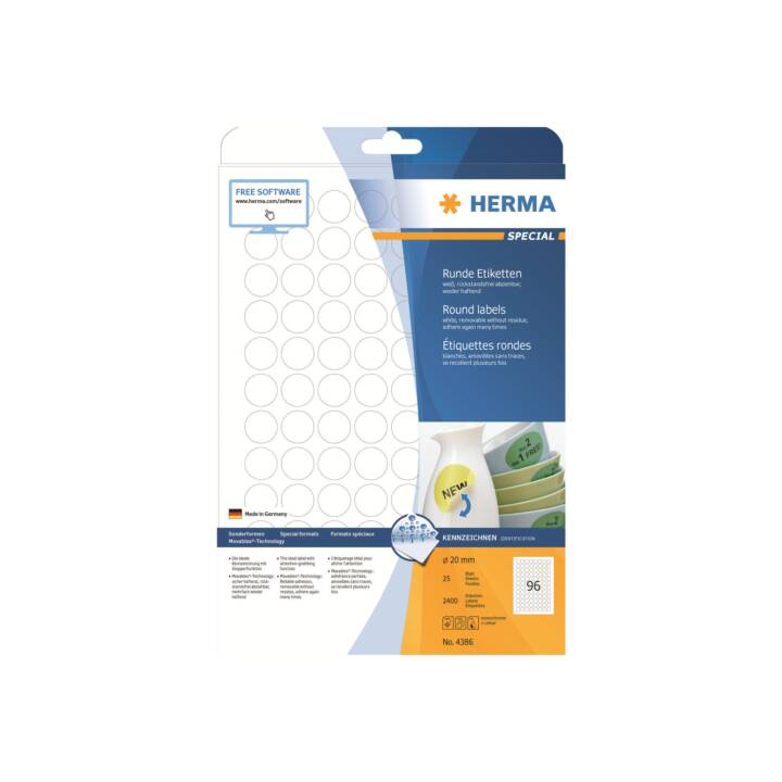 HERMA Mobili 20mm 2400 pezzi 2400 pezzi