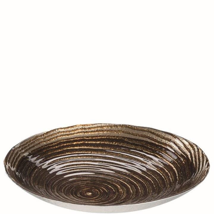 LEONARDO ciotola Castagna 40 cm oro, 2 pezzi