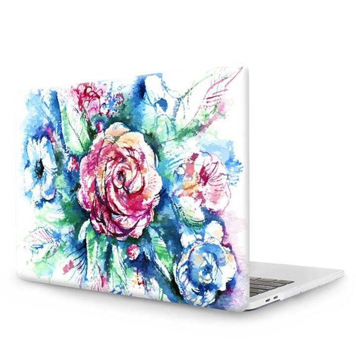 """EG MTT Copertina per computer portatile con tastiera, protezione antipolvere, penna a sfera per MacBook Pro 13"""" Touch Bar - Red Flowers"""