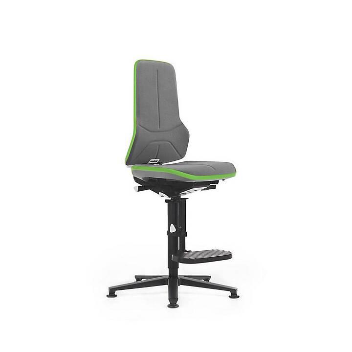 BIMOS Neon, inkl. Gleiter, Sitzhöhe 590 - 870 mm Bürostuhl (Grau, Grün)