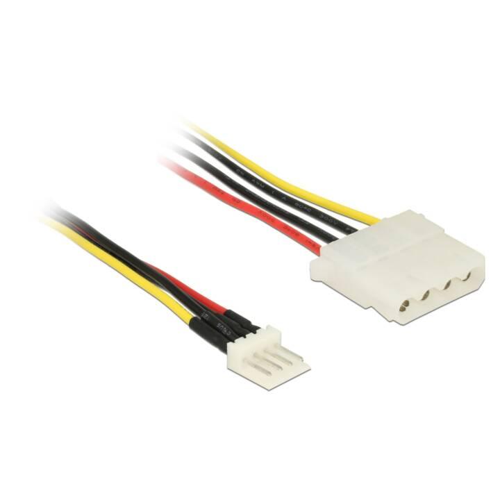 DELOCK Stromanschlusskabel (4 Pin, 15 cm)