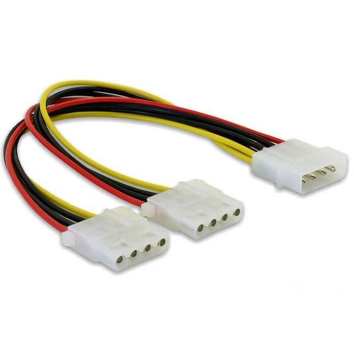 DELOCK Stromanschlusskabel (4 Pin Molex, 11 cm)
