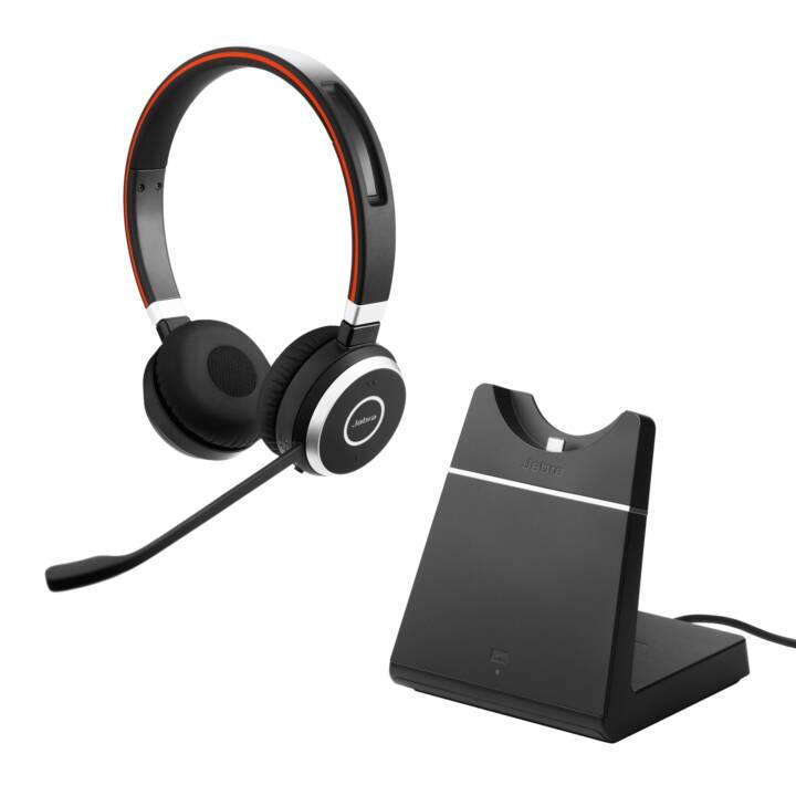JABRA Evolve 65 MS Stereo Headset inkl. Ladestation