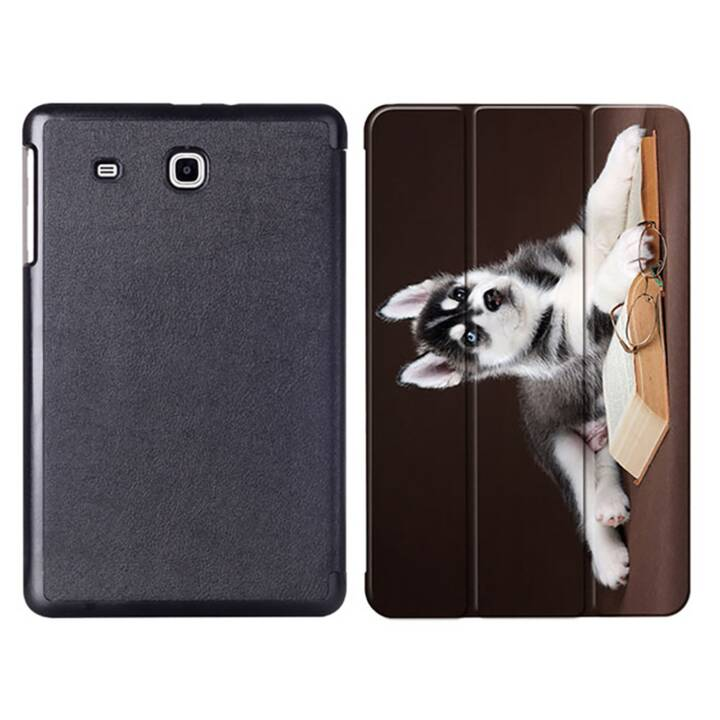 """EG MTT Sacoche à comprimés avec couvercle rabattable pour Samsung Galaxy Tab E 9.6"""" - Dog"""
