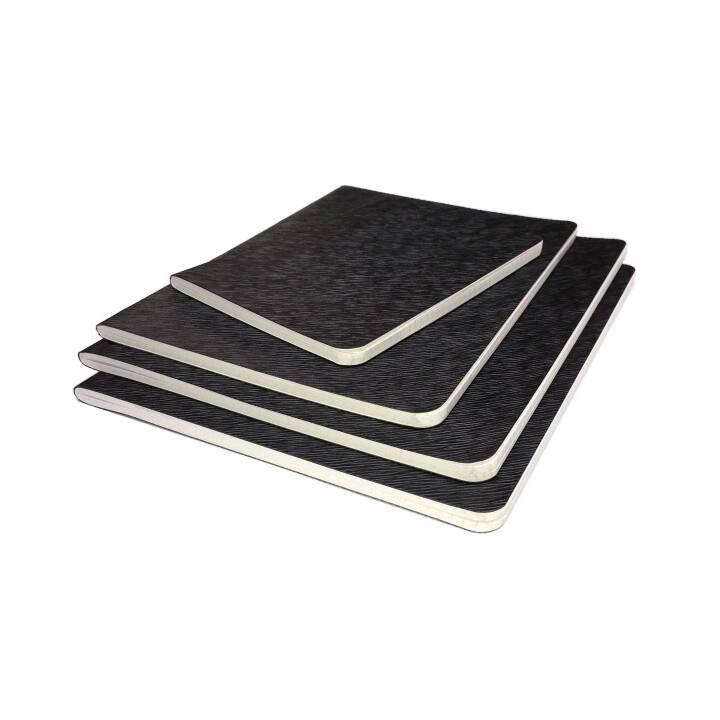 NEUTRE livre en toile cirée avec registre 10,5x15,0cm 48 feuilles
