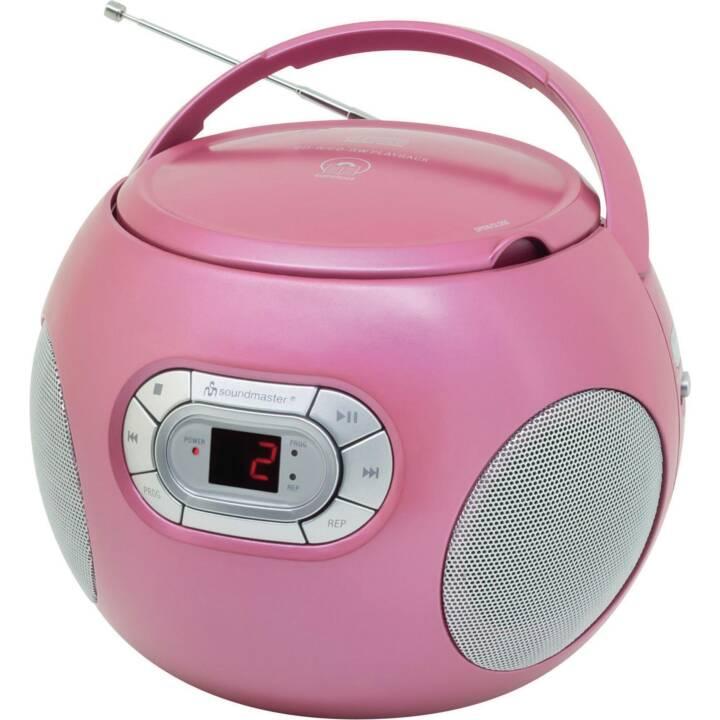 SOUNDMASTER Portabler Radio/CD-Player Radios de chantier (Pink)