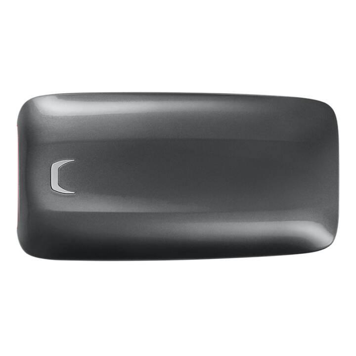 SAMSUNG Portable X5 (Thunderbolt 3, 1 TB, Rouge, Noir)