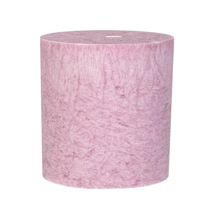 HERZOG Kristallo Bougie cylindrique (Rose, 1 pièce)