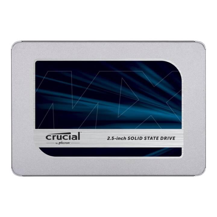 CRUCIAL MX500 (SATA-III, 1 TB, Argent)