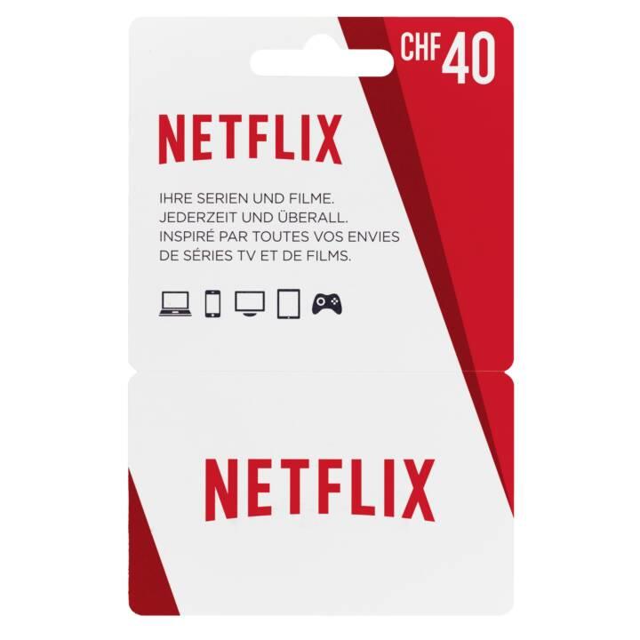 Scheda NETFLIX 40 CHF