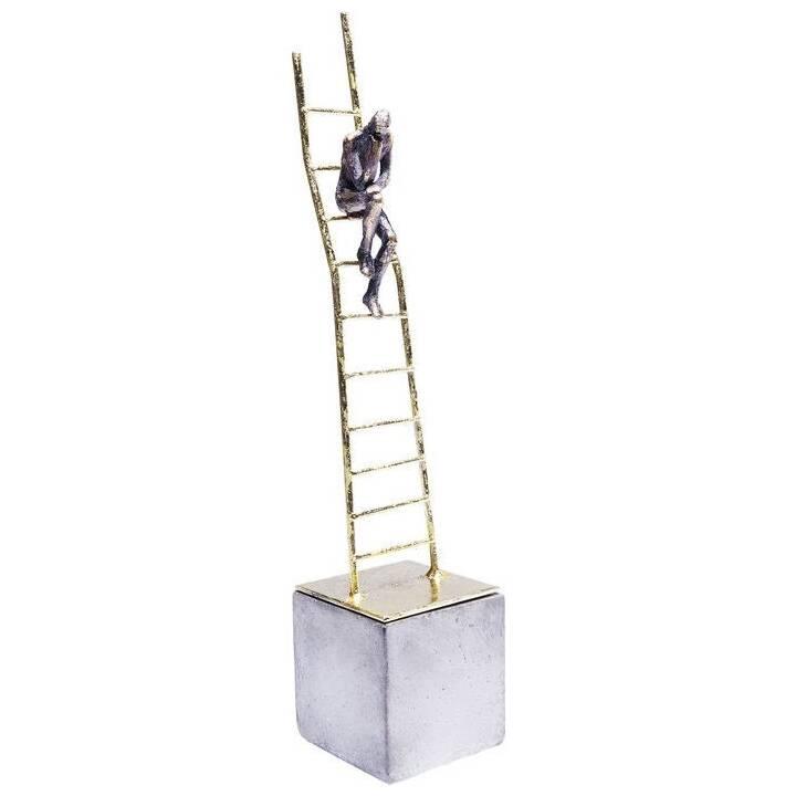 KARE Figura decorativa Climbing Man (Argento, Oro)