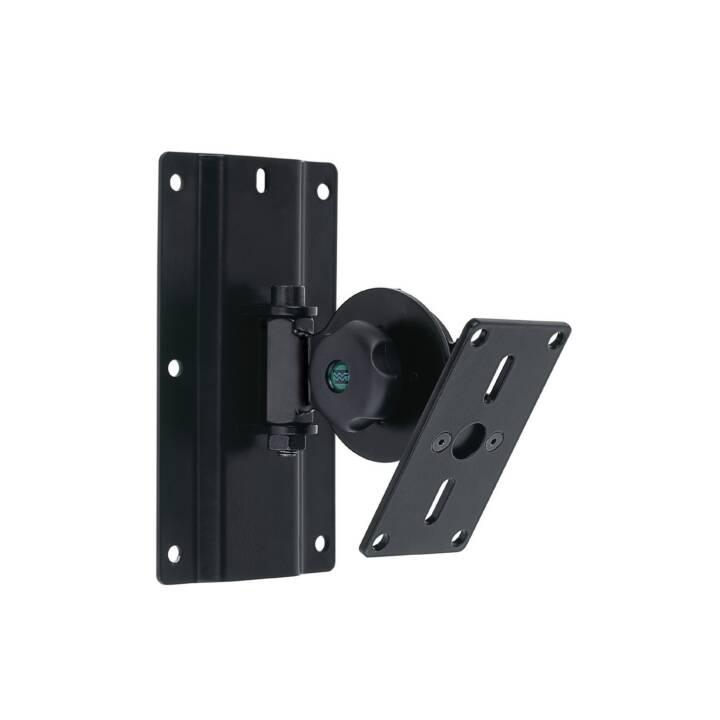 EUROMET Lautsprecher-Wandhalterung, Universal, Schwarz