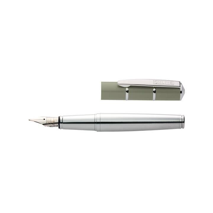 ONLINE Piccolo Penne stilografice (Marrone, Argento)