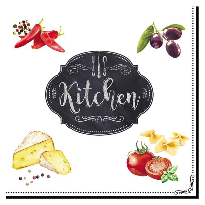EASY LIFE Papierserviette Kitchen Basics (20 Stk, Gemustert)