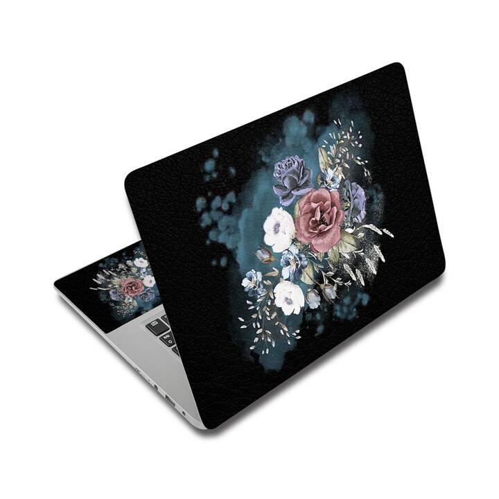 """EG Schutz Aufkleber für 14"""" Notebook - Blumen"""